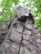 Rock Climbing Photo: Follow the crack straight or stay left and travers...