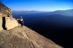 Rock Climbing Photo: Matt Grieger nears the summit of the Magician Need...
