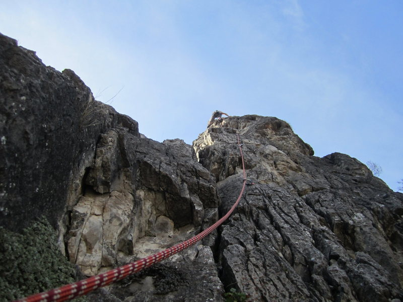 Rock Climbing Photo: Early spring climbing