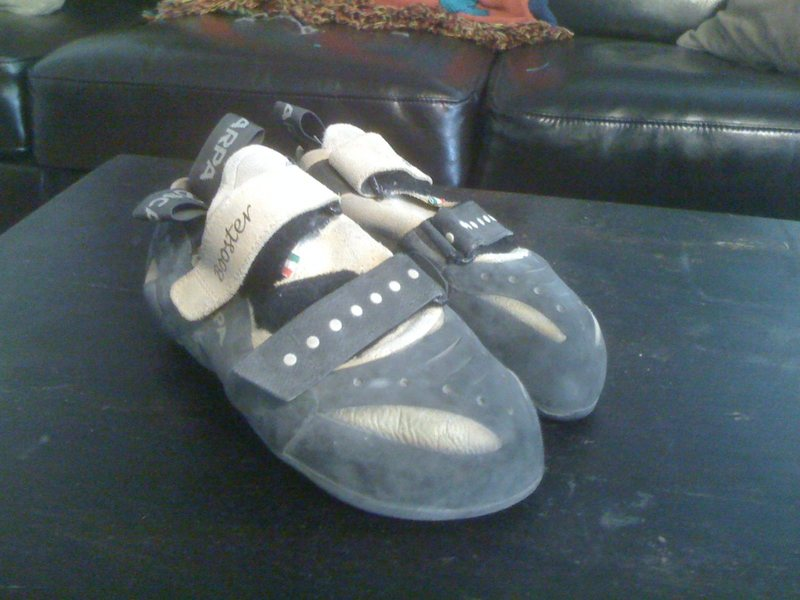 scarpa boosters, size 40 (us 8.5)