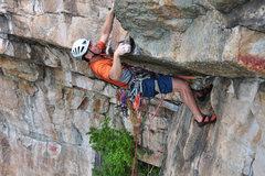 Rock Climbing Photo: Getting horizontal.