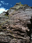 Rock Climbing Photo: Canyon Cruiser's first three pitches. Glenwood Can...