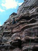 Rock Climbing Photo: Pitch 1 of Canyon Cruiser, Glenwood Canyon.