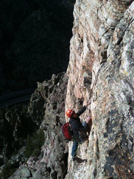 Pitch 2 of Canyon Cruiser, Glenwood Canyon.