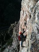 Rock Climbing Photo: Pitch 2 of Canyon Cruiser, Glenwood Canyon.