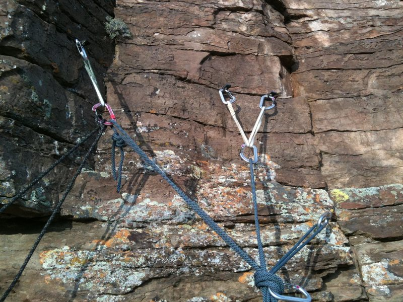 Belay on top of pitch 4, Canyon Cruiser, Glenwood Canyon.