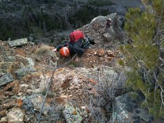 Rock Climbing Photo: Topping out the direct finish on the 4th pitch by ...