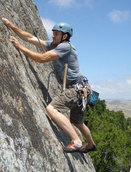 Rock Climbing Photo: Raleigh giving it a go during the initial establis...