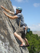 Rock Climbing Photo: Raleigh giving it a go during the initial establis...