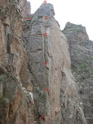 Rock Climbing Photo: Photo topo of the route.