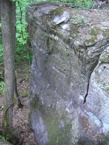 Rock Climbing Photo: The Scoop.  Banana Split is the arete on the left.