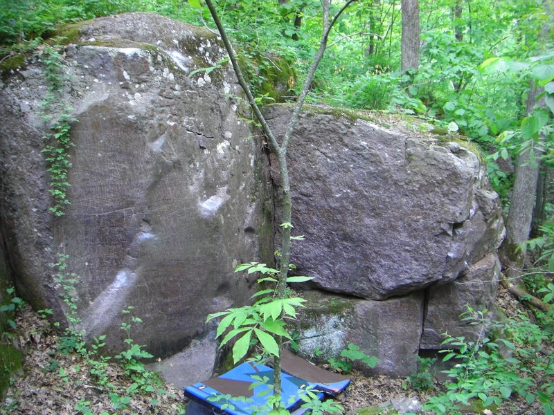 Rock Climbing Photo: Backside of Burma with the Sloper Problem, V5 face...