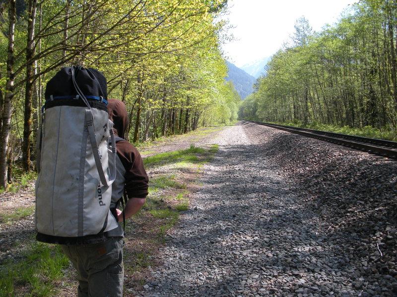 Walking the railroad tracks<br>