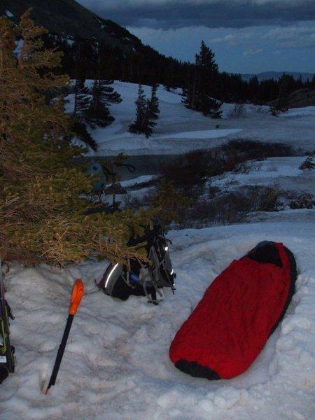 Rock Climbing Photo: Camp at South Colony Lake