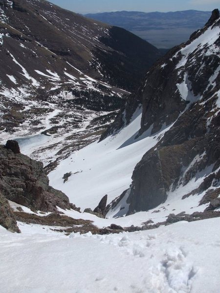 Rock Climbing Photo: Looking down the pass