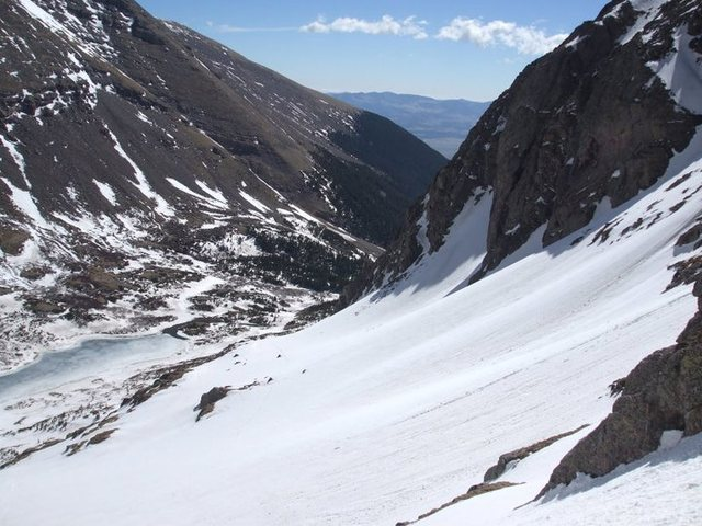 Rock Climbing Photo: South Colony Lake from the pass