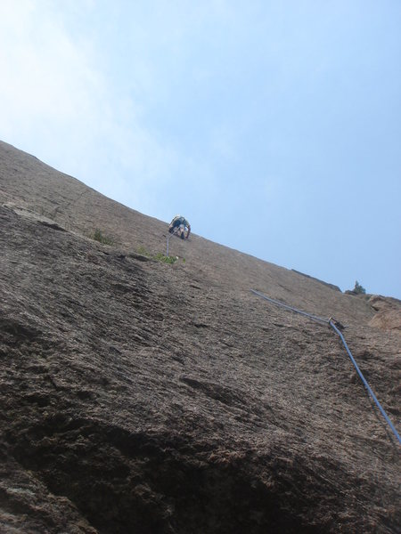 Rock Climbing Photo: Tony Christopher leading Reality Check.