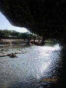 Rock Climbing Photo: climbing at the river