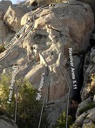 Rock Climbing Photo: Various routes in and around Jam Crack area. Sgt. ...