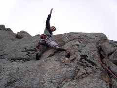 Rock Climbing Photo: At the start of Private Pepper (5.7) after clippin...