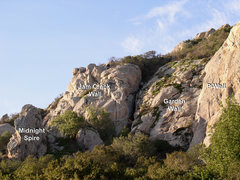 Rock Climbing Photo: General Overview of the climbing areas left of P-W...