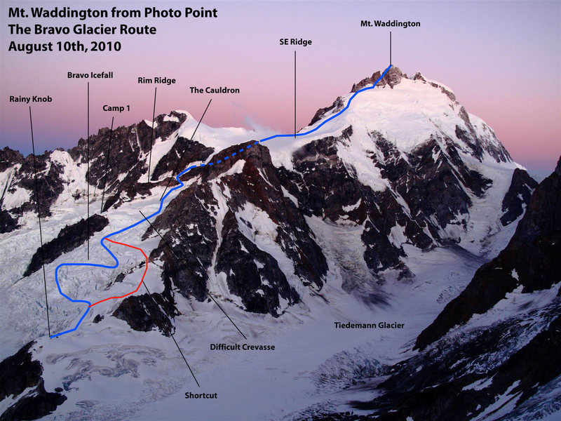 Rock Climbing Photo: Mt. Waddington, Bravo Glacier Route