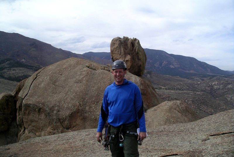 Rock Climbing Photo: Top of Helen's Dome, South Platte, Colorado.