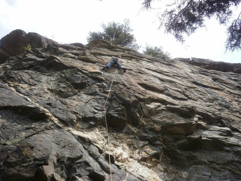 Rock Climbing Photo: @ the crux.