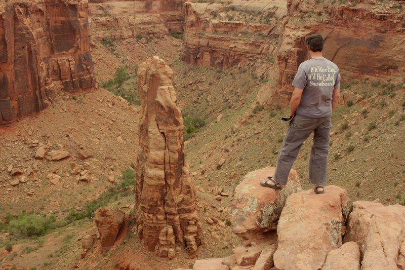 Rock Climbing Photo: The view from the rim.
