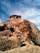Rock Climbing Photo: Looking up at Traitor Horn and company on the SW f...