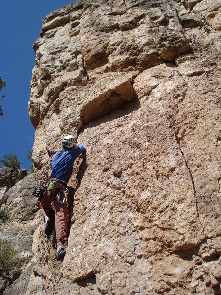 Rock Climbing Photo: Approaching C3.