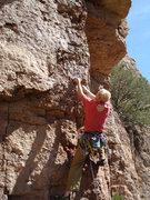 Rock Climbing Photo: Climber starting HIW.
