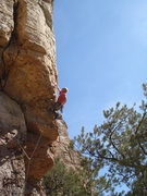 Rock Climbing Photo: Pulling the juggy roof.