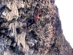 Rock Climbing Photo: Joe Maier on The Lineup 12b. His first 5.12 on spo...