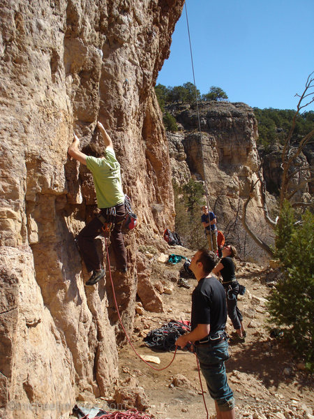 Rock Climbing Photo: Colin flashing Disciples of Hell and another very ...