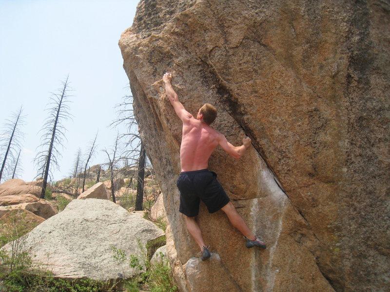Rock Climbing Photo: Climbing without a crash pad...bad idea.