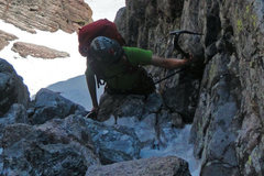 Rock Climbing Photo: Negotiating first technical section before reachin...