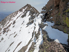 Rock Climbing Photo: Traverse from ridge (where Dreamweaver pops-out) t...