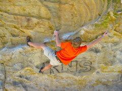 Rock Climbing Photo: Heel hook beta.
