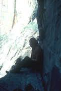 Rock Climbing Photo: Great ledge on top of pitch 8