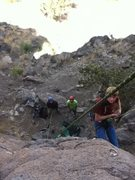 Rock Climbing Photo: Fleafer getting lowered