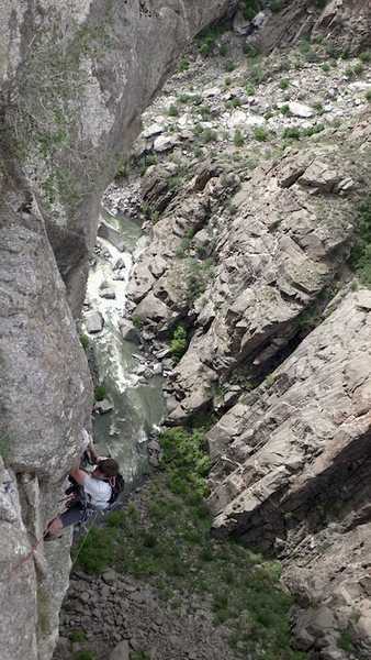 Rock Climbing Photo: I think this is P10, photo from just above the 5.1...