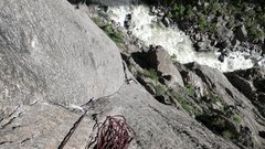 Rock Climbing Photo: Another shot of the amazing second pitch. Lots of ...