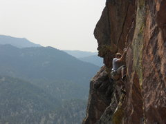 Rock Climbing Photo: The second crux section.  Photo by Karl Manteuffel...
