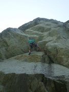 Rock Climbing Photo: Getting steep on Eros.  Right before the crux roof...