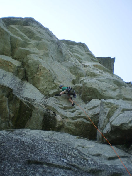 Rock Climbing Photo: Perfect tri-cam placement protects this funky sect...