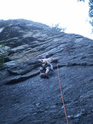 Rock Climbing Photo: At the tall first bolt of Ellie Reynolds.