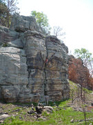 Rock Climbing Photo: Rhoads chalkin' up before the crux.  photo: Paul C...