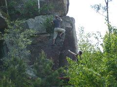Rock Climbing Photo: Mr. Mix sending