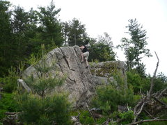 Rock Climbing Photo: Paul on a boulder that doesn't appear to shrink wh...